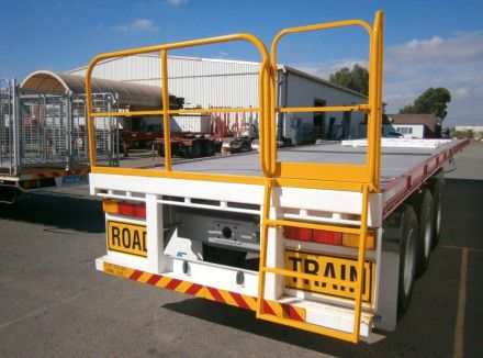 Gates for Trucks and Trailers - Access Ladder Folded Down