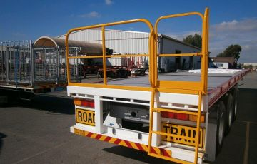 Gates for Trucks and Trailers - Rear Safety Gate with Access Ladder
